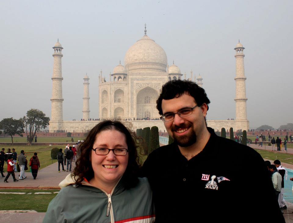 Anne and I in front of the Taj Mahal
